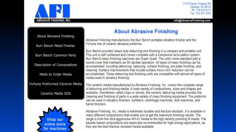 Abrasive Finishing, Inc.