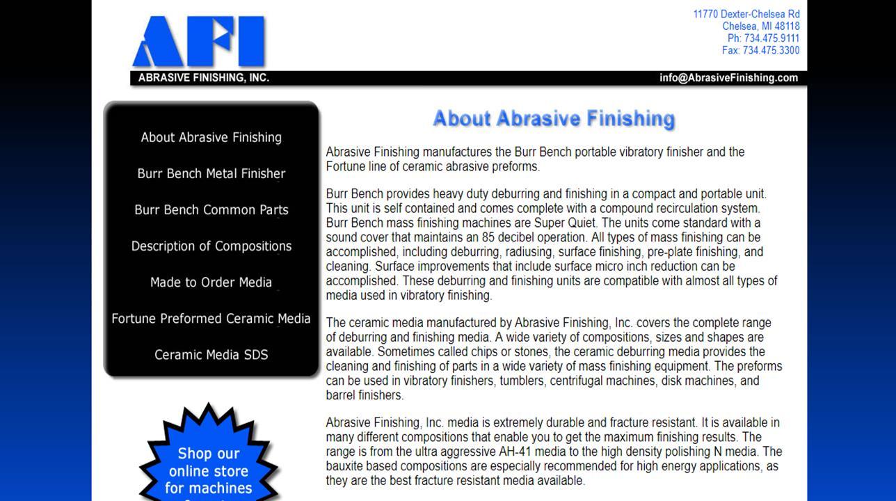 Abrasive Finishing, Inc.